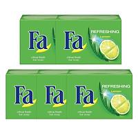 Combo 5 Xà Bông Cục Fa Lemon Refreshing (90g x 5)
