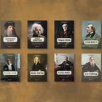 Combo 8 Cuốn Sách Kể Về Cuộc Đời Của Những Thiên Tài: Elbert Einstein + Thomas Edison + Andersen + Leonardo Da Vinci + Marie Curie + Lev Tolstoy + Isaac Newton + Alfred Nobe