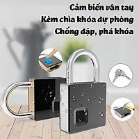 Ổ khóa vân tay kèm chìa khóa cỡ lớn FL-S5 chống nước chống phá khóa lưu 10 vân tay