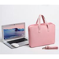 Túi xách chống sốc cho máy tính, macbook, laptop chống nước, siêu nhiều ngăn màu tím