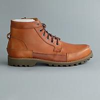 Giày boot nam buộc dây da búc cao cổ, bụi bặm, năng động hàng hiệu Fu Khang mã SP  GB110N