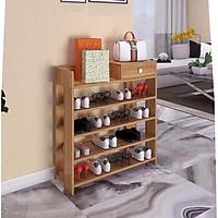 Kệ giày gỗ, tủ giày dép 5 tầng đa chức năng