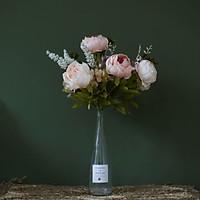 Lọ hoa giả hoa mẫu đơn trang trí nhà cửa