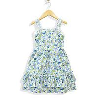 Đầm Bé Gái  Kate Sát Nách 2 tầng tùng nhún phối ren  MEEJENA 1843, từ 10- 28 kg, Vải Kate  Hoa Cúc siêu dễ thương   -1843