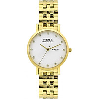 Đồng hồ Neos N-30901L nữ dây thép vàng