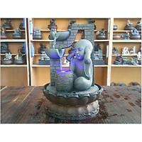 Tượng chú tiểu thác nước phong thủy để bàn MD13