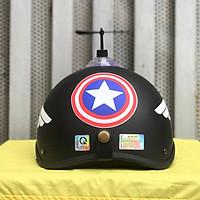 Combo Mũ Bảo Hiểm 1/2 Nửa Đầu Cap + Chong chóng + Kính phi công chống bụi, chống nắng