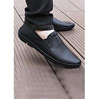 Giày Lười Nam Da Bò Mềm, Đế Khâu SL001