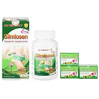 Combo 1 Thực phẩm chức năng Slimtosen Extra (100 viên) + 3 hộp trà slimutea Học viện quân y