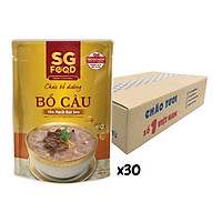 Thùng cháo bổ dưỡng Sài Gòn Food bồ câu yến mạch hạt sen 240g x 30 gói