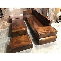 Bộ bàn ghế Sofa phòng khách góc gỗ me tây
