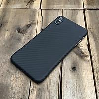 Ốp lưng siêu mỏng, vân carbon dành cho iPhone X / iPhone XS - Màu đen