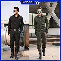 Bộ quần áo nam kaki phong cách lính mỹ (xanh)