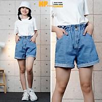 Quần short jean nữ ️ Quần đùi nữ lưng cao có chun co dãn phong cách Ulzzang - QJ18