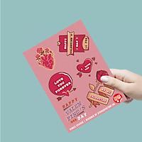 Happy Valentine's Day - Single Sticker hình dán lẻ