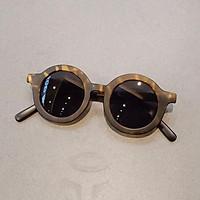 Children's sunglasses、 Children's ink mirror baby anti-UV sunglasses men and girls retro sunglasses toddler round box glasses