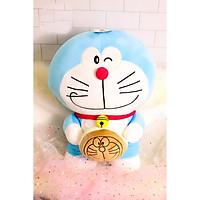 Gối mền Doraemon cầm bánh lông mịn - Xanh da trời - 45420