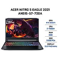 Laptop Acer Nitro 5 Eagle AN515-57-720A (Core i7-11800H/ 8GB DDR4 3200MHz/ 512GB SSD M.2 PCIE/ RTX 3050Ti 4GB GDDR6/ 15.6 FHD IPS, 144Hz/ Win11) - Hàng Chính Hãng