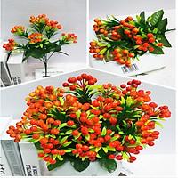 Hoa Giả Chùm quả Hồ Trăn Màu Cam trang trí