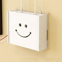Kệ wifi mini Mặt cười treo tường không khoan tặng kèm móc treo cường lực
