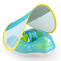Inflatable Baby Swimming Ring with Removable Sun Canopy Floating Swimming Pool Swim Trainer