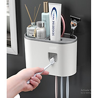 Kệ nhà tắm đa năng dán tường tặng kèm ly hít từ tính (4 cốc, 1 cốc) , hộp để bàn chải đánh răng nhả kem tự động OENON cao cấp GD456-HBCOENON