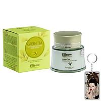 Kem dưỡng trà xanh tái tạo trắng da Benew Green Tea hàn Quốc 50ml + Móc khoá