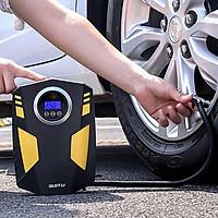 Máy bơm lốp ô tô 12V có màn hình điện tử cao cấp SUITU có đèn pin soi sáng ban đêm thông minh