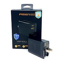 Sạc PISEN Quick USB Wall Charger QP18 ( QC, PD 18W) - Hàng Chính Hãng