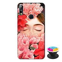 Ốp lưng điện thoại Asus Zenfone Max Pro M2 hình Cô Gái Hoa Hồng tặng kèm giá đỡ điện thoại iCase xinh xắn - Hàng chính hãng