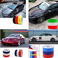 Hình dán xe hơi decal cờ Đức ,Ý, Pháp, M sport dài 1m chất liệu vinyl sẵn keo bóc dính màu sắc nét