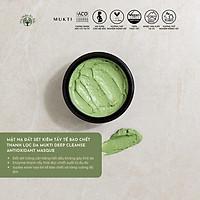 Mặt Nạ Đất Sét Kiêm Tẩy Tế Bào Chết Thanh Lọc Da Mukti Deep Cleanse Antioxidant Masque (30g)