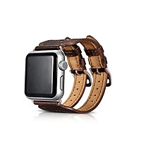 Dây Classic Double Buckle Cuff Genuine Leather cho Apple Watch - Hàng Chính Hãng
