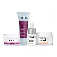 Bộ Kit dưỡng ẩm thải độc Murad Hydro Dynamic Ultimate Moisture  15ml -  AHA/BHA Exfoliating Cleanser  30ml - City Skin Overnight Detox Moisturizer 7.5ml - Multi Vitamin Oil 3ml