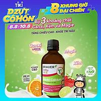 Siro bổ sung Canxi, Magie và Kẽm Brauer Baby & Kids Liquid Calcium With Magnesium & ZinC cho trẻ trên 1 tuổi (200ml)