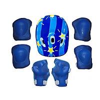 Mũ Bảo Hiểm Xe Đạp Trẻ Em, Nón Bảo Hiểm Chơi Thể Thao, Trượt Patin Cao Cấp kèm Bộ Đồ Bảo Hộ 6 Món Cho Bé
