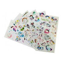 Bộ 6 tấm sticker trang trí Unicorn J08