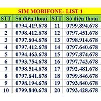 Sim số đẹp MobiFone - Số sảnh tiến 678 -  Chọn Số Theo List MB01 - Hàng Chính Hãng