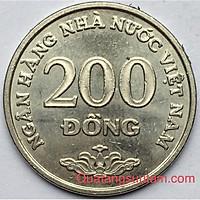 Combo 5 Đồng Xu 200 Đồng Việt Nam 2003 Thật 100% + Kèm Holder sang trọng.