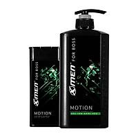 Combo Sữa tắm nước hoa X-Men for Boss Motion 650g + Dầu gội nước hoa X-Men for Boss Motion 180g