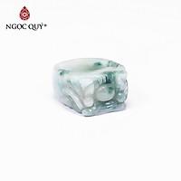 Nhẫn nam đá cẩm thạch phỉ thúy ni 20 mệnh hỏa, mộc - Ngọc Quý Gemstones
