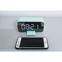 Loa Bluetooth kiêm đồng hồ báo thức mặt gương đa chức năng bản cao cấp