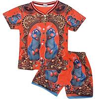 Set đồ bộ quần áo trẻ em in hình 3D Chuột Mango siêu dễ thương - Độ tuổi 1 - 10 - AK006