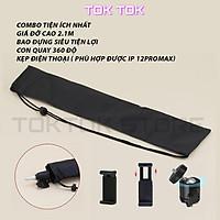 Giá đỡ điện thoại-Tripod quay TikTok chân đèn livestream chân đỡ máy ảnh cứng bền đẹp chắc chắn triệu view