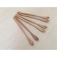Bô 6 thìa , muỗng cafe, sinh tố bằng gỗ KEO màu gỗ sáng 20cmx1,5cm - TG25