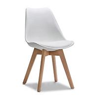 Ghế cà phê B487 chân gỗ mặt nệm nhiều màu - DAF