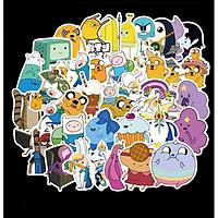 Bộ 50 miếng Sticker hình dán Adventure Time