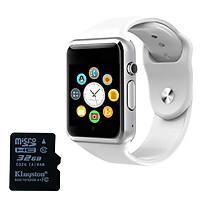 Đồng hồ thông minh A01 tặng thẻ nhớ 32Gb (Trắng)