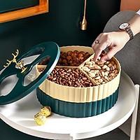 khay đựng mứt tết, khay bánh kẹo 2 tầng cao cấp, sang trọng, hiện đại phong cách châu âu