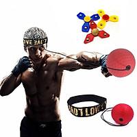 2 bộ bóng tập boxing phản xạ với dây buộc đầu - Tặng bộ 3 con quay spinner
